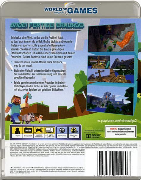 Mojang Dvd Ps4 Minecraft minecraft playstation 3 edition playstation 3 world