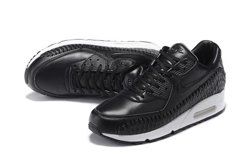 Nike Air Max 90 Woven All White nike air max 90 woven running shoes all black white 833129 001 zmshoes