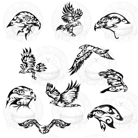 tribal falcon tattoo tribal falcons 4 left drawings for embroidery