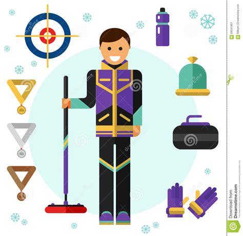 game design equipment curling game sport royalty free cartoon cartoondealer