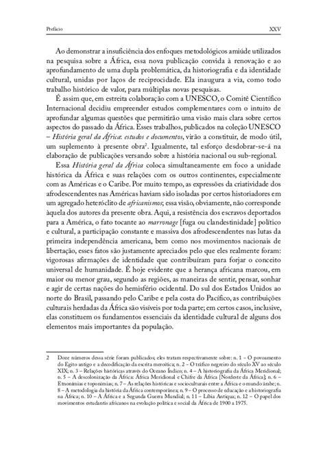 História geral da áfrica i