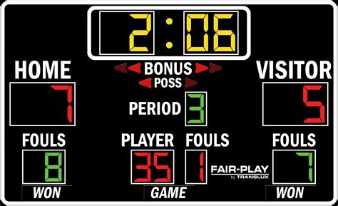 basketball scoreboard coloring pages bb 3620 4 fair play scoreboards
