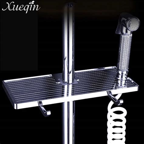 stainless steel bathroom tray xueqin stainless steel bathroom shelf pole shelf shoo bath towel tray wall mounted