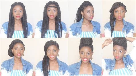 how i style box braids 8 hairstyles in 4 minutes youtube