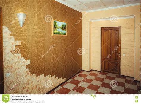 main entrance hall design entrance to the apartment grand design corridor and main door stock photo image 73323076