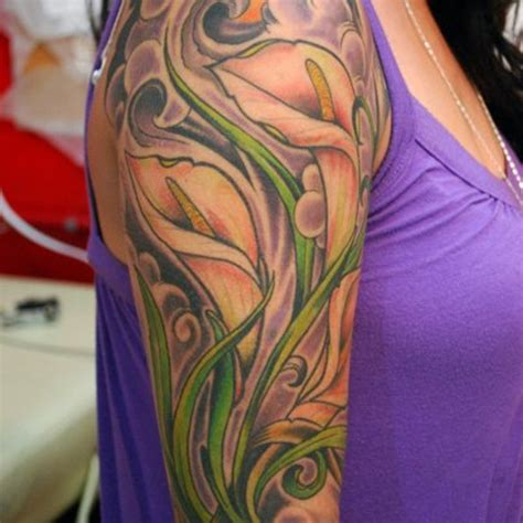 rose and calla lily tattoo calla design idea for and