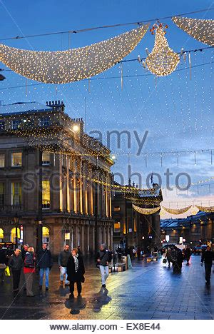 newcastle northumberland street christmas lights northumberland newcastle upon tyne stock photo royalty free image