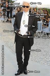 dress up as karl lagerfeld costume playbook cosplay