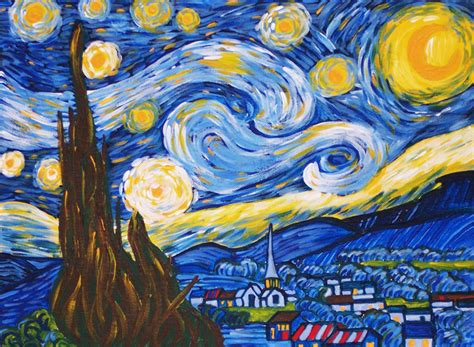 paint nite kits vincent gogh paint by number kit of quot starry quot by