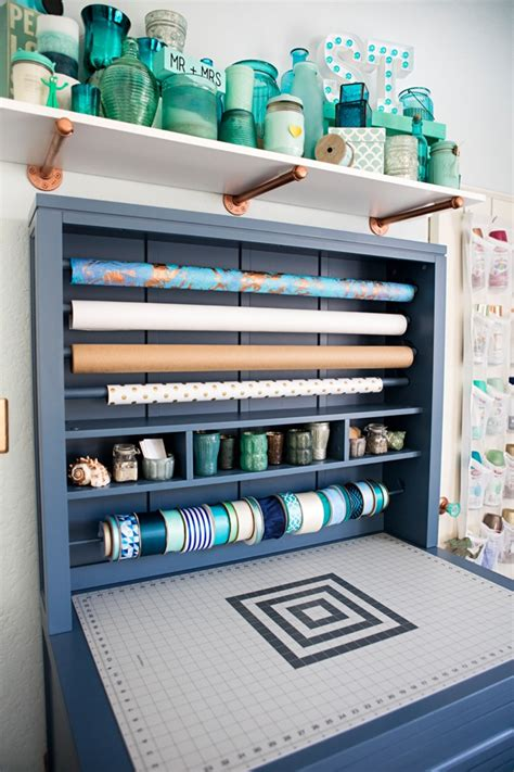 Table Top Organizer Check Out Jen From Something Turquoise S New Craft Room