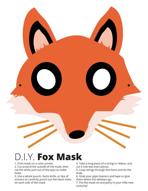 How To Make A Fox Mask Out Of Paper - fox mask free free fox mask diy fox mask