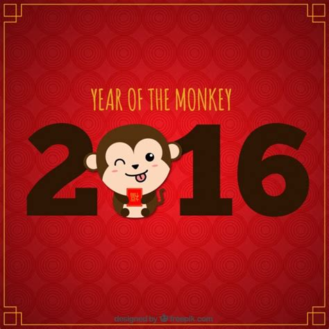 new year the year of the monkey monkey new year background vector free