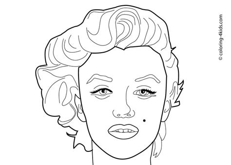 marilyn coloring pages marilyn coloring pages coloring pages