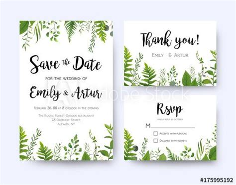 design menu coreldraw wedding invite invitation menu rsvp thank you card vector