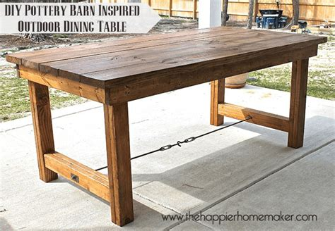 House Plans With Outdoor Living diy pottery barn inspired dining table the happier homemaker