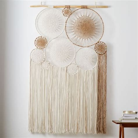 macrame tapestry wall art west elm