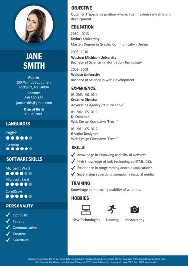 Resume Cv Creator Resume Builder Resume Maker Creative Resume Templates Craftcv