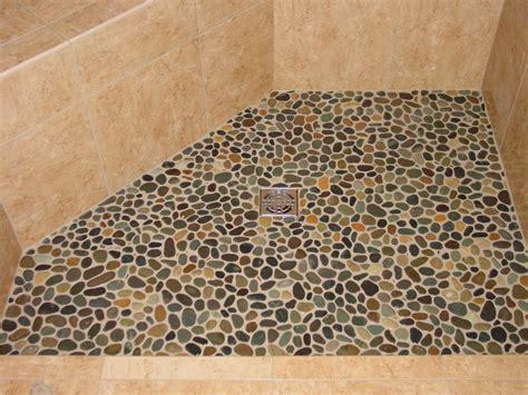 River rock tile shower floor houses flooring picture ideas
