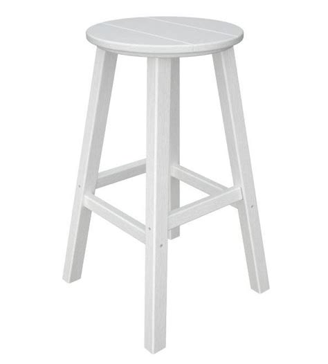 traditional counter height bar stool by polywood traditional bar height stool recycled outdoor furniture