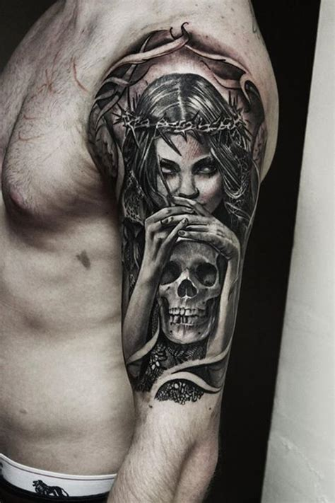 tattoo on hand death left half sleeve death tattoo designs for men tatts