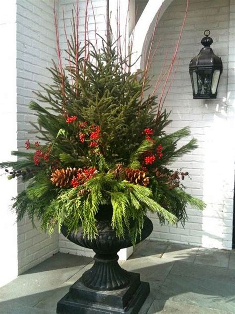 outdoor christmas decorating pots ideas 2017 2018 best