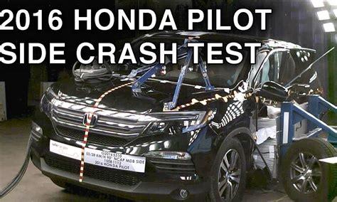 crash test si鑒e auto 2016 honda pilot crash test side crash crashnet1