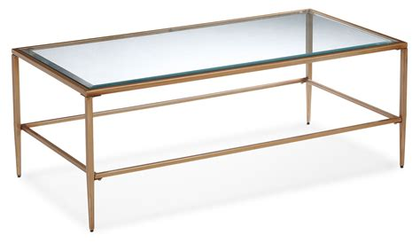 harlan coffee table glass and gold s