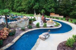 elite pools by lazy river pool firepit outdoor