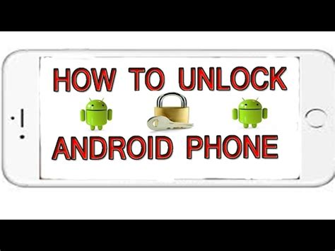 how to unlock android how to unlock android pattern or pin lock without losing data