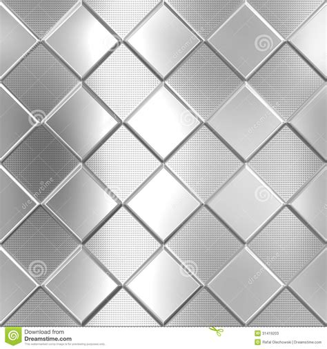 pattern background metal metal silver checked pattern stock illustration