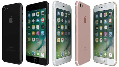 3d apple iphone 7 all colors cgtrader