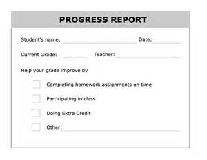 best photos of student progress report printable