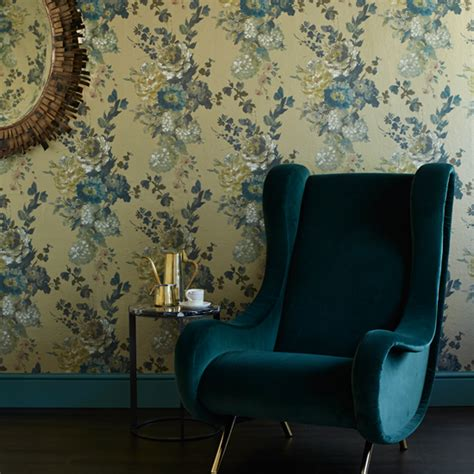 teal wallpaper for living room teal and gold living room living room decorating ideas ideal home