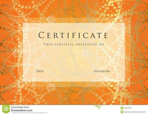 Certificate / Diploma Award Template. Pattern Royalty Free