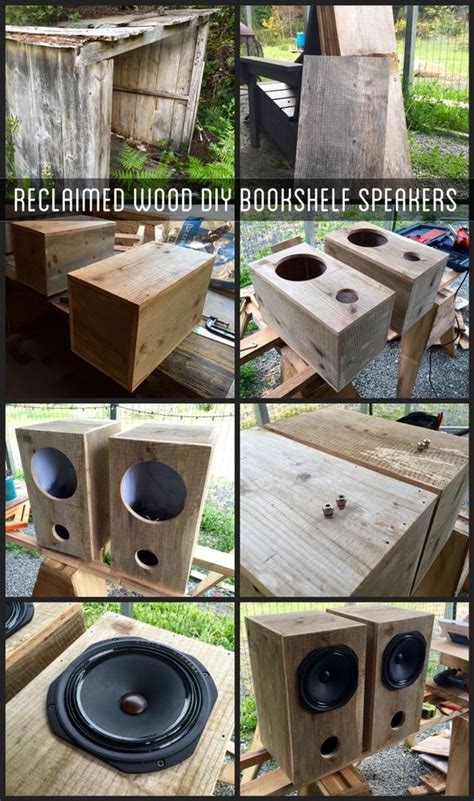 diy bookshelf speakers using reclaimed shed wood speakers