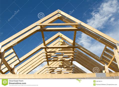 Garage Plans And Prices by Roof Trusses Stock Images Image 26078574