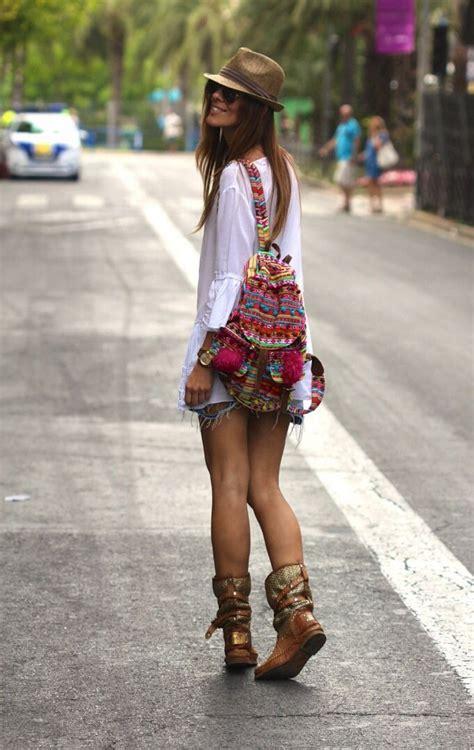 bohemian boho chic tribal trendy clothing aztec fuzzy slouchy tribal woven backpack boho hippie tapestry ethnic rucksack