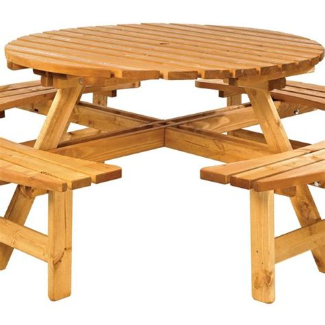 round picnic benches for sale wooden garden furniture simply wood