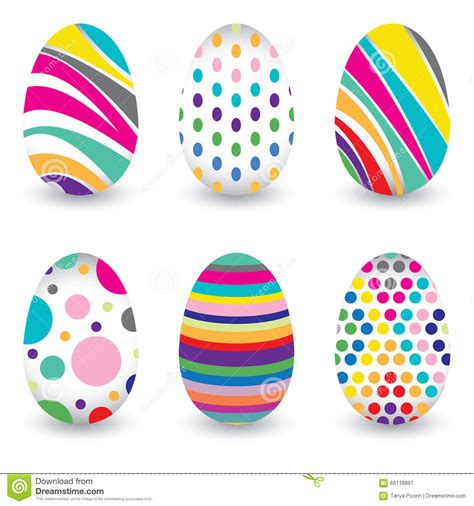 colorful eggs easter day for egg isolated on vector design colorful