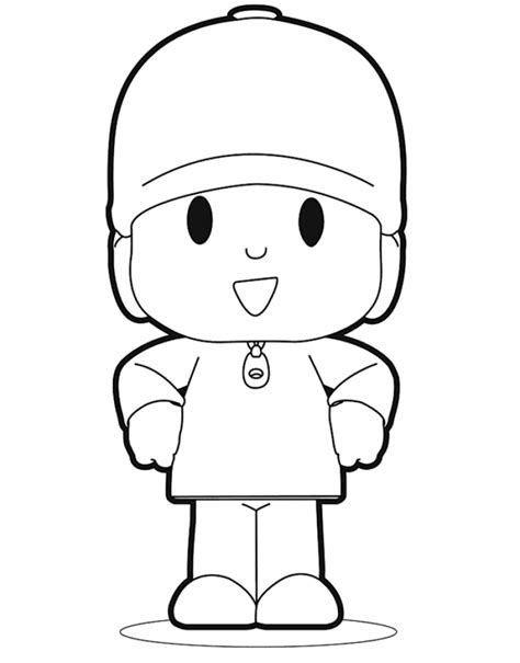 free printable pocoyo coloring pages for kids