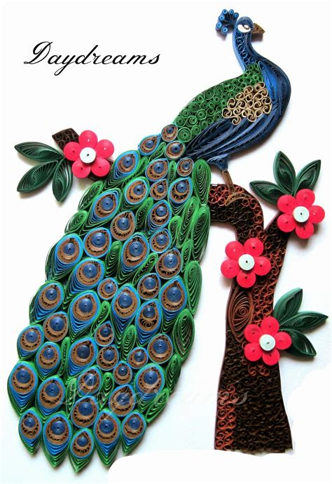How To Make Paper Quilling Peacock - daydreams