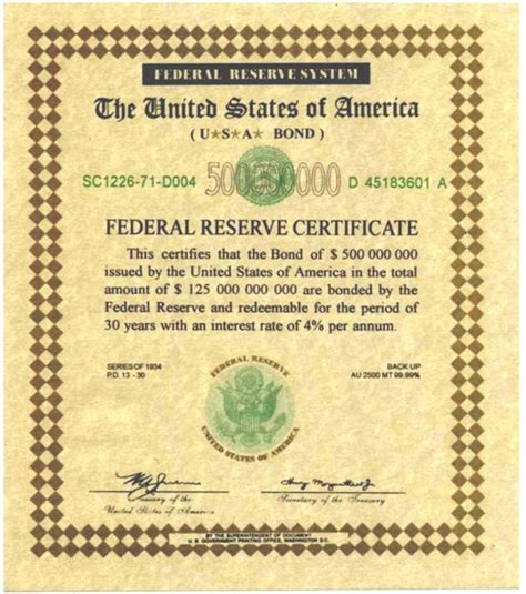 bond certificate template the fed made simple planet infowars