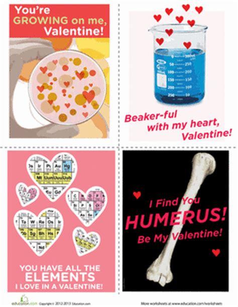 science valentines cards science valentines worksheet education