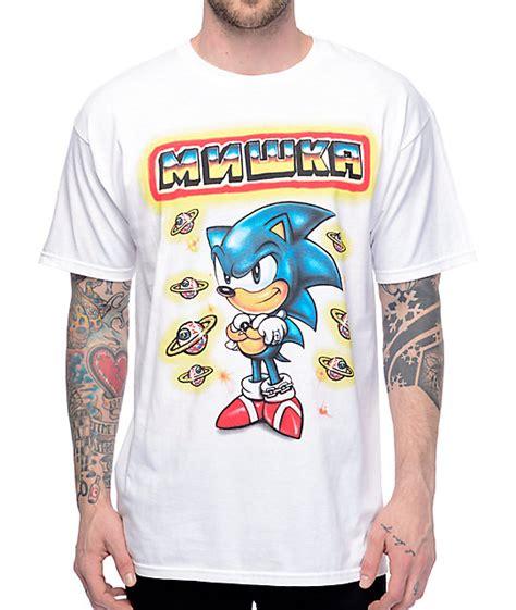 Sega T Shirt mishka x sega sonic white t shirt zumiez