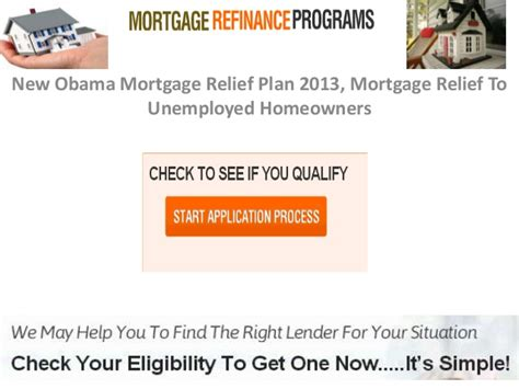 obama house loan program new obama mortgage relief plan 2013 mortgage relief to