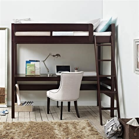 loft bed desk dorel living dorel living harlan loft bed with desk