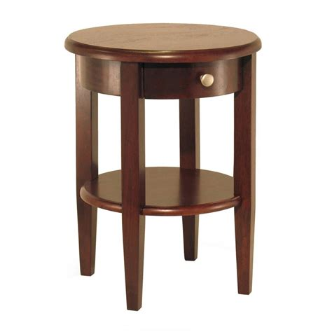 Lowes End Tables by Shop Winsome Wood Concord Antique Walnut End Table
