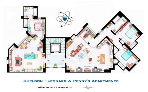 frasier apartment floor plan from friends to frasier 13 famous tv shows rendered in