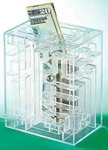 Japanese Gift Wrapping money maze puzzle amazing gift card holder cash