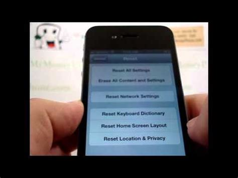 factory reset the iphone 4s hard reset apple iphone 4s master data wipe restore to